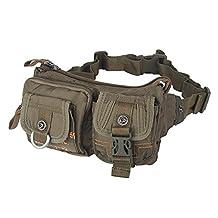 Kawei Knight Nylon Sling Bag Messenger Backpack Fanny Pack (Green)