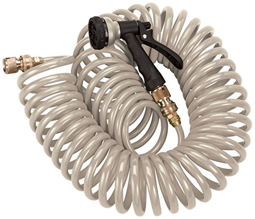 Orbit 27683 Coil Hose with Pistol, 50', Tan