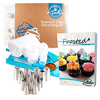 33 Pcs Hand-Picked Cake Decorating Set and Accessories Icing Sugar Frosting Tips Stainless Steel