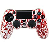 PS4 Controller Cover, Protective Hard Skin Kits for PS4 Dualshock 4 Wireless Controller (Blood)