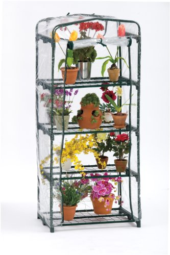 Flowerhouse FHPT400CL 63-Inch by 27-Inch by 19-Inch 4 Shelf Plant Tower