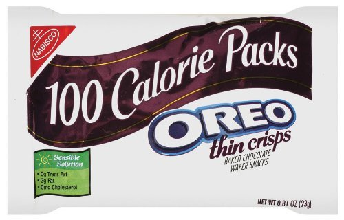 100 Calorie Packs Oreo Thin Crisps, 0.81-Ounce Packs (Pack of 72) by Nabisco