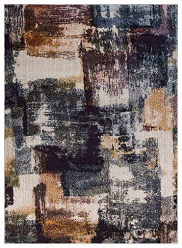 Mod-Arte   Jewel Collection   Area Rug   Transitional & Contemporary Style   Abstract, Geometric & Distressed  Soft & Plush   Multi   Living Room, Bedroom, Dining Room   5'2