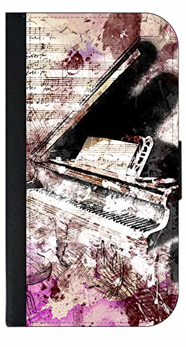 Abstract Piano Wallet Phone Case for The iPhone 10 XR - iPhone 10 XR Wallet Case - iPhone XR Wallet ()