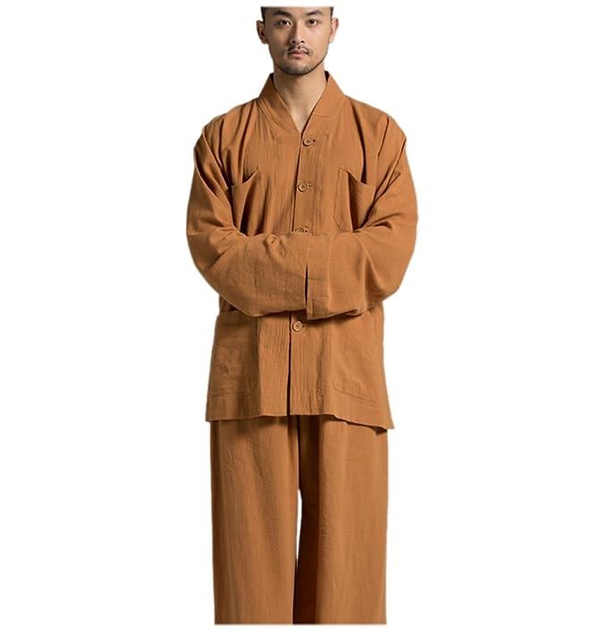 KATUO marrón Casual Trajes de Monje Budista Religión Traje ...