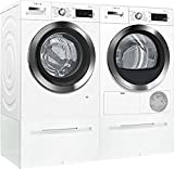 Bosch White Front Load Compact Laundry Pair with WAW285H2UC 24