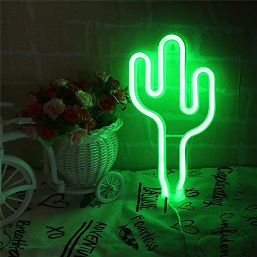 Led Neon Cactus Sign Love Sign Art Decorative Lights Wall