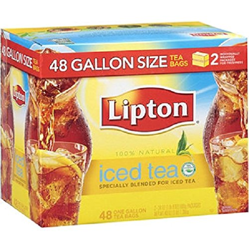- Lipton Iced Tea, Gallon Size Tea Bags (48 ct.) (pack of 2)