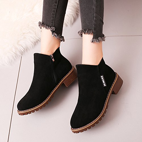 Thick Women'S Singles Boots With With Base Boots Winter Martin Shoes seven Thick Retro And Students A Thirty Velvet Autumn Flat KPHY Plus Iw4ZXqxYaW