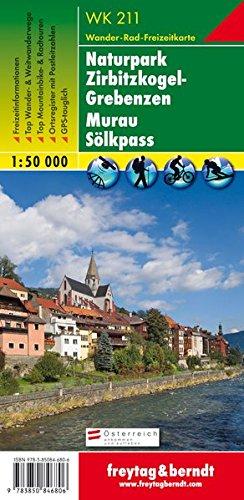 Naturpark Zirbitzkogel-Grebenzen - Murau - Sölkpass, Wanderkarte 1:50.000, WK 211, freytag & berndt Wanderkarten