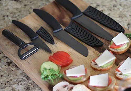 World Class Ceramic Knifes 7-piece Ceramic Knife Kit Black