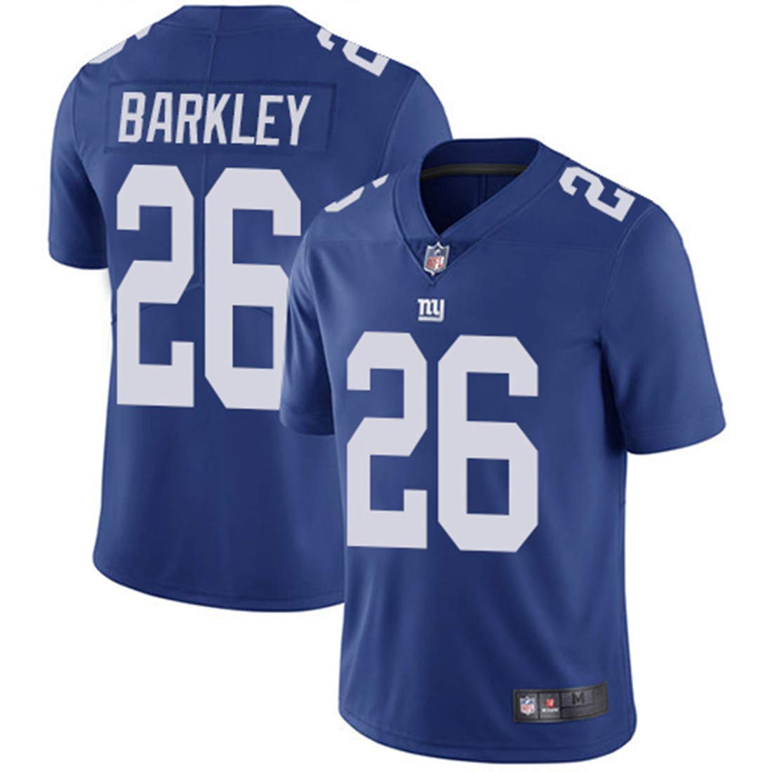 658e93928eb5c Men's New York Giants #26 Saquon Barkley Royal Embroidered Name & Number  Jersey