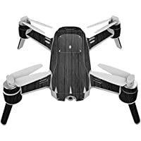 Skin For Yuneec Breeze 4K Drone – Black Wood | MightySkins Protective, Durable, and Unique Vinyl Decal wrap cover | Easy To Apply, Remove, and Change Styles | Made in the USA