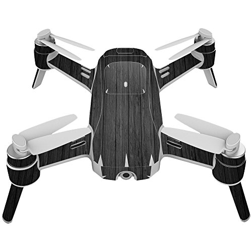 Skin For Yuneec Breeze 4K Drone – Black Wood | MightySkins Protective, Durable, and Unique Vinyl Decal wrap cover | Easy To Apply, Remove, and Change Styles | Made in the (Black Florida Flooring)
