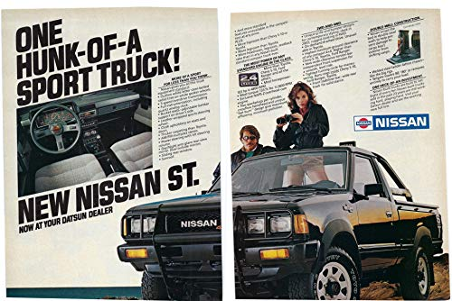 1983 Vintage Two Page Ad for Nissan ST Sport Truck | One Hunk of a Truck
