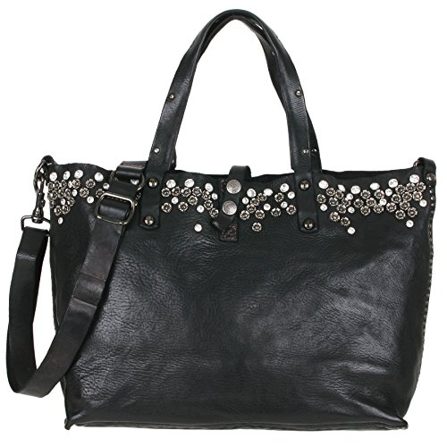 Campomaggi Bella di Notte borsa tote pelle 36 cm Black