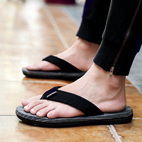 Uomo Gray Estate Sandali Pantofole uomo Sandali pelle da casual uomo in B da AIHUWAI Pantofole Infradito Sandali Sandali antiscivolo AUSxY