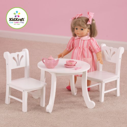 Doll Table And Chairs (KidKraft Little Doll Table and Chair Set)