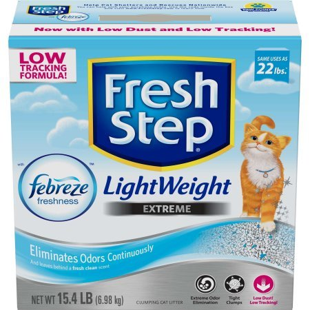 51arA66hqAL - Fresh Step's Cat Litter Odor Shield Scoopable, Unscented, 20 Pound Carton