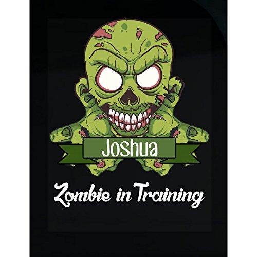 Prints Express Halloween Costume Joshua Zombie in Training Funny College Humor Gift - Sticker