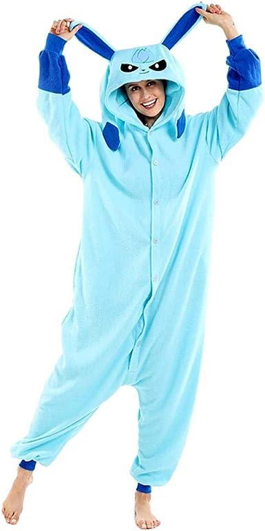 Pijamas de Dibujos Animados Azules Cosplay Animal Onsie ...