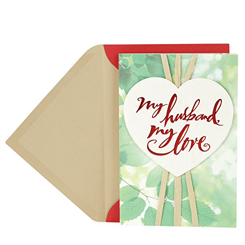 DaySpring Religious Valentine's Day Greeting Card for Husband (Green Leaves)
