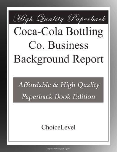Coca-Cola Bottling Co. Business Background -