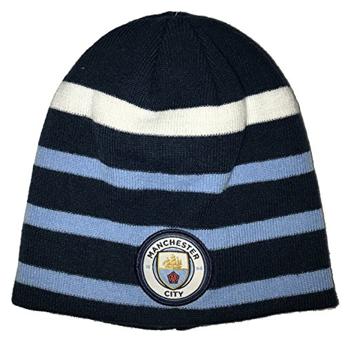 Icon Sports Manchester City Pom Reversible Beanie (One Size, Blue/Sky/White) ()