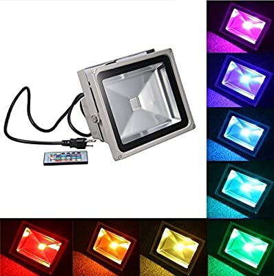 Generic Remote Control 10w RGB Waterproof LED Flood Light (16 Different Color Tones)