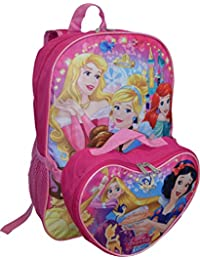 "Disney Girl's Princess 16"" Backpack W/ Detachable Lunch Box"