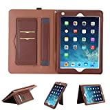iPad 9.7'' Case Air 2 Cover,Hulorry Slim Flip Case Smart Case Heavy Duty Corner Protection Cover Portable Handbag Style Wallet File Cover Folio Pocket for iPad Air 2 9.7'' Tablet
