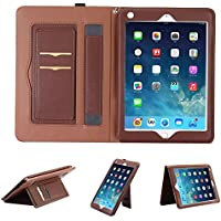iPad 2 Case,iPad 3 Cover,iPad 4 Case,Hulorry Slim Fit Flip Case Corner Protection Portable Handbag style Wallet File Cover folio Pocket for iPad 2/iPad 3/iPad 4 9.7 Tablet