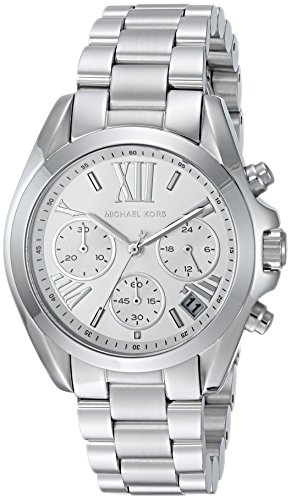 Michael Kors Women's Mini Bradshaw Silver-Tone Watch MK6174