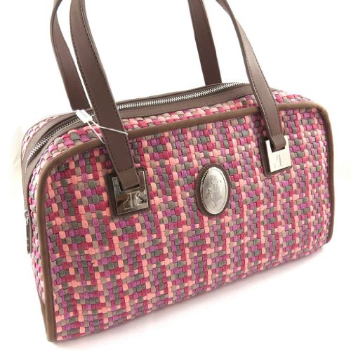 Jacques ESTEREL [J8905] - Sac vintage 'Jacques Esterel' tressé rose