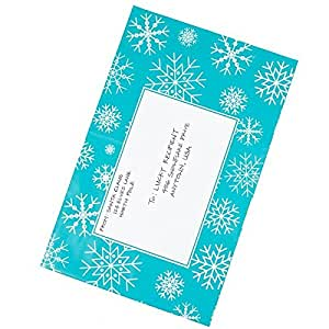 Poly Mailers 8.5x12 – Winter Snowflakes Print – Writable Surface No Labels Needed - Pack of 100