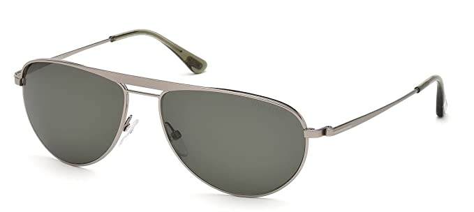 6d30a5dce Tom Ford 0207 14R Gunmetal William Square Aviator Sunglasses: Amazon.co.uk:  Clothing