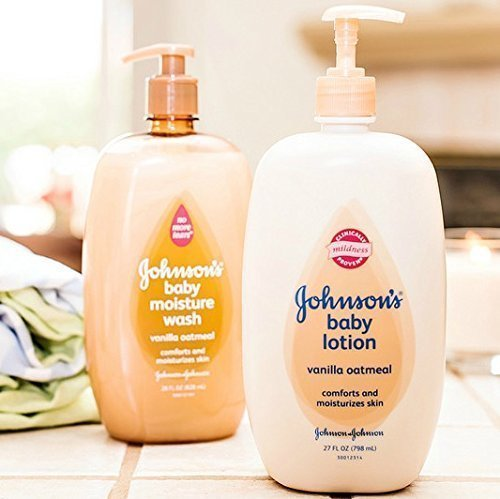 Johnson's Baby Vanilla Oatmeal Moisture Wash & Lotion Set