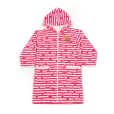 Surfit Girls Towelling Robe Dolphin Stripe 2-4 Years TRDP2/4
