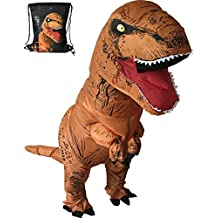 Luckysun Adult T-REX Dinosaur Inflatable Christmas Costume Party Bar Fancy Dress Suit