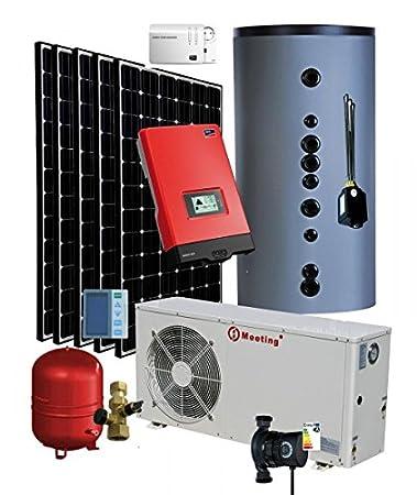 Wärmepumpe Luft / Wasser 7,0 Kw mit PV Photovoltaik Komplettanlage 2 ...