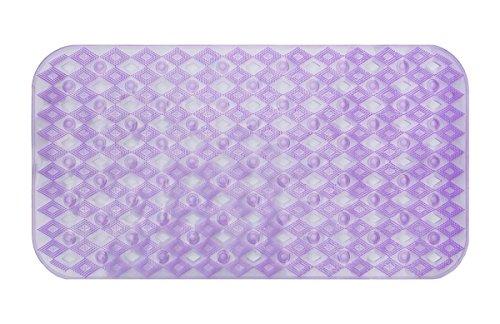 "28""X15"" Non Slip Bath Mat Purple   Non-Toxic (BPA-Free) and Anti-Bacterial"