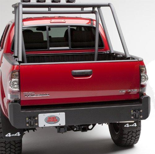 Body Armor 4x4 TC-2961 - Black - Steel Rear Bumper for 2005-2013 Toyota Tacoma