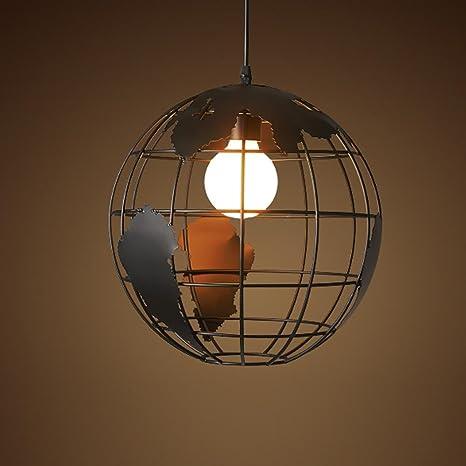 Modern creativo minimalismo - Lámpara de techo, Negro Hierro ...