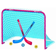 EZGoal Mini Folding Goal with 2 Sticks and 3 Balls, Red/White