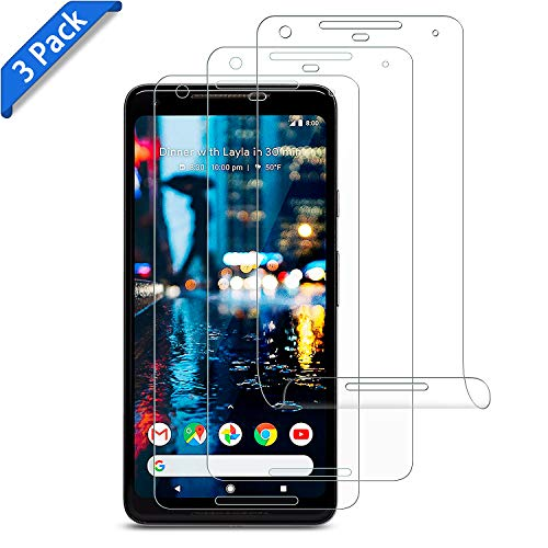 [3 Pack] Google Pixel 2 XL Screen Protector- Xawy Full Coverage Screen Protector for Google Pixel 2 XL Screen Protector(Case Friendly Updated Version) Anti- Scratch,HD Clear Anti-Bubble Film
