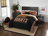 MLB San Francisco Giants Grand Slam Two Sham Set, Black, Full/Queen Size