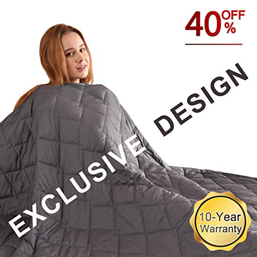 """FAHUA Original Weighted Blankets 20 lbs 60""""x80"""" Queen Size Adult Breathable Cotton Heavy Blanket with Glass Beads …"""
