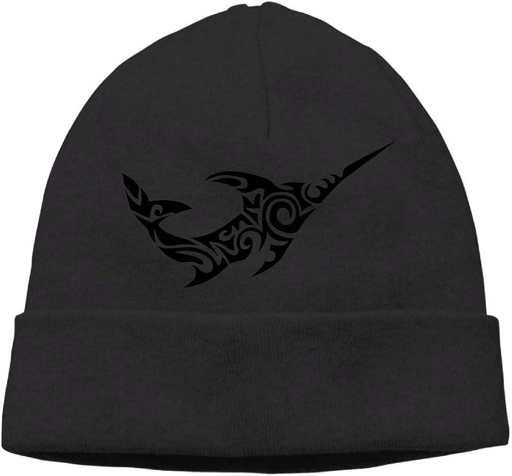 Oopp Jfhg Beanie Knit Hat Skull Caps Fun Tribal Swordfish Mens Black