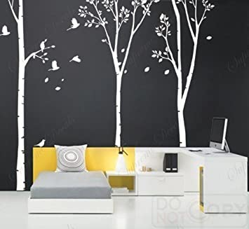 Amazoncom Custom PopDecals On Sale Three Big Birch Trees - Locations where sell wall decals
