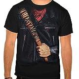 The Walking Dead Men's Negan Costume T-shirt Black XL
